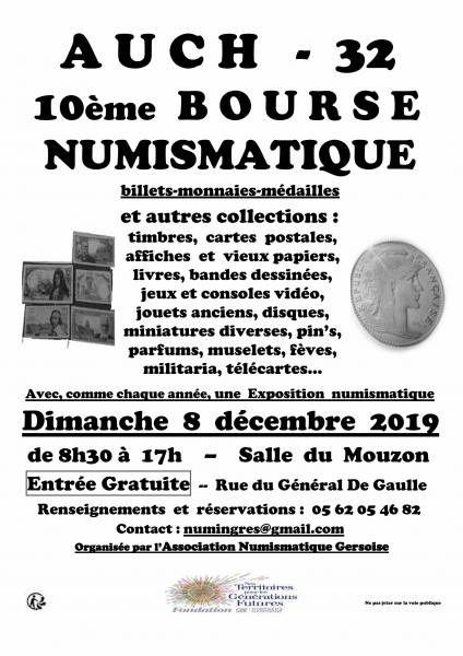 Bourse Numismatique d'Auch 2019